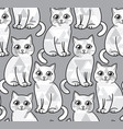 abstract greyscale funny cats seamless vector image