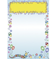 advertising frame with toys vector image vector image