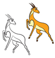 antilopa coloring book vector image vector image