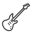 bass guitar line icon music and instrument vector image vector image