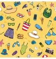 Beach seamless background pattern vector image vector image