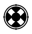 black icon lifebuoy icon cartoon vector image