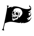 black pirate flag vector image vector image