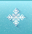 blue winter christmas background snowflakes vector image vector image