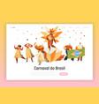 brazil carnival samba dancer character web page vector image vector image