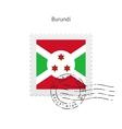 Burundi Flag Postage Stamp vector image vector image