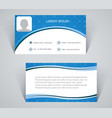 business card simple pattern of blue color vector image vector image