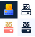 chip and credit card stock icon set the concept vector image vector image