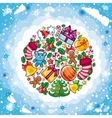 christmas food vector image