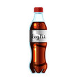 cola bottle icon soda vector image