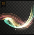 colorful tranparent light effect background vector image