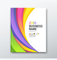 cover business book annual report colorful curve vector image