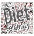 Do Popular Fad Diets Work text background vector image vector image