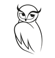 doodle sketch wise owl vector image vector image