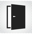 door icon exit icon open door simple business vector image