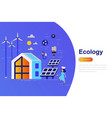 ecology modern flat concept vector image