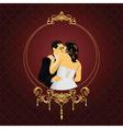 elegant wedding frame vector image vector image