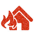 fire damage grunge icon vector image vector image