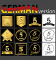 german set of number 5 templates vector image
