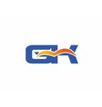 GK letter logo vector image vector image