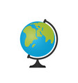 globe icon in flat design vector image