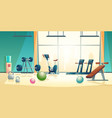 gym background with treadmill bike vector image vector image