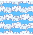 hand drawn clouds over the blue sky vector image vector image