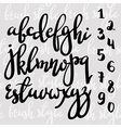 Handwritten brush pen modern calligraphy font vector image