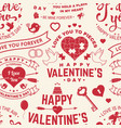 happy valenyines day background or wallpaper vector image