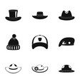 hat fashion icon set simple style vector image vector image
