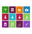 Hospital icons on color background vector image vector image