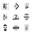 international mens day logo set simple style vector image vector image