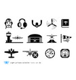 light private aviation icons vector image vector image