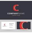 Logotype logo and business card template vector image vector image