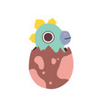lovely dino hatched from egg adorable baby vector image vector image