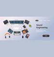 music recording studio sound engineering concept vector image
