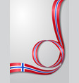 norwegian flag wavy background vector image vector image