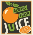 oranges and always fresh juices vector image vector image