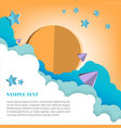 paper art style in the air sky vector image