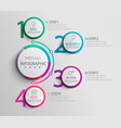 paper infographic template with 4 round circle vector image