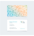 pattern vintage business card vector image vector image