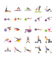 physical exercises flat vector image vector image