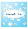 Postcard Daisies vector image