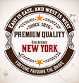 Premium Quality insignia vector image vector image