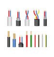 realistic detailed 3d electrical cable set vector image vector image