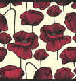 red poppies on a light background seamless vector image vector image