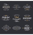 Retro Typography Discount and Sale Labels vector image