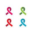 ribbon logo template icon design vector image vector image