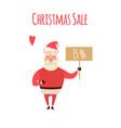 santa claus cartoon character holding christmas vector image vector image
