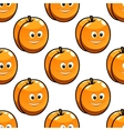 Seamless pattern apricot with happy smiling faces vector image vector image